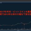 【2017年/年末】ビットコイン大暴落・・週間で4年ぶりの大幅な下落を記録。