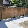 裏庭の板塀のメンテナンス