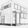クロッキーとパースを用いた家を描く、基本の練習 (アナログ2枚)