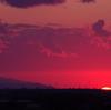 太陽が水平線に沈む頃 4月9日