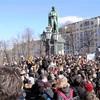 モスクワで1万人超の反政権デモ 呼びかけ人の身柄拘束