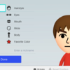 Nintendo SwitchでMiiを作成している動画が公開