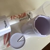 大人の氷かき器を使って、わらび餅入り練乳きな粉かき氷(^^)