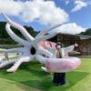 石川県能登町イカの駅「つくモール」のスルメイカモニュメント「イカキング」ぜひ見にきてください