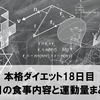 本格ダイエット18日目