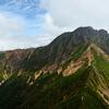 赤岳を眺める