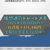 【2月13日取引予定更新】【仮想通貨】【暗号資産】トレードメモ 総資産は+475,446円でした(2021年1月30日0時時点)