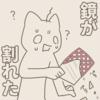 【雑記】ダイソーの鏡が突然割れた!【注意】