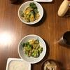 ブロッコリーかにかま卵炒め、しめじの味噌汁