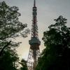 夕日と東京タワー