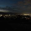 新緑の信州旅行:夜の棚田と姨捨駅からの夜景