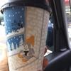 ローソンのカフェラテ(^^♪カップのアートが可愛い