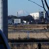 川越から綺麗に見える富士山