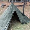 中華製薪ストーブ Wood Camping BBQ Stoveをポンチョテントにインストール