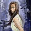 女性の肖像画@廃墟都市