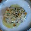 粗挽き鶏ハンバーグ にんにくバター実山椒焼き