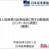 10月4日は投資の日。日本証券業協会が発表した「個人投資家の証券投資に関する意識調査 【インターネット調査】」