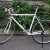 クロスバイクのハンドルをブルホーンに交換カスタマイズしました