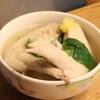 今日の晩ごはん〜手羽先のスープ&カスタードシフォン