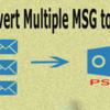 Outlook 2019/16/13用の添付ファイルを使用してMSGをPSTに変換する方法