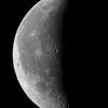 夜明け前の月(月齢23.661)