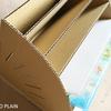 ダンボールで作るA4ファイル整理用書類棚