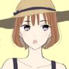 【フリーイラスト素材】麦わら帽子の女の子