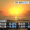 今季一番の冷え込み 阿蘇市で氷点下4度9分