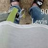 Levis 501 + 子供と過ごす日曜日の公園