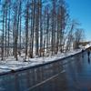 日に溶けて淡雪流る
