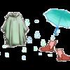 雨降りの日を快適に!格好いいレインウエア・お洒落で可愛いレインポンチョ!