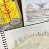 万博記念公園のお出かけ記録はスクラップノート作りにスケッチ