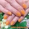 カラーで楽しむワンカラーネイル☆存在感のあるオレンジ系キャメルカラー☆ジェル