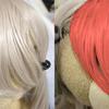 例の友利奈緒風ウィッグの髪型のセット方法のメモ