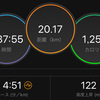 ジョギング20.17km・1週間早くソツケン設定クリア
