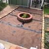 庭のお手入れ13(自転車小屋前を完成させる〜砂利を入れる)