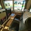 グリーンの座席から車窓のグリーン車