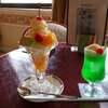 池袋 タカセ 9階 フルーツパフェとクリームソーダ