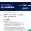John Bogle氏のポートフォリオ - 50%米国株 : 50%債券