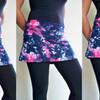 3種類の着用を楽しめるスカート、丈を選べるロングレギンス、お腹も隠れるキャミソールなど。