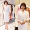 韓国ファッション,春によく似合うホワイトワンピース