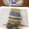 夏糸オパール毛糸で透かしあみ靴下♪編んでます