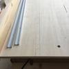 テーブルソー 天板の交換 3日目 スライドレールの設置とクロスカットジグの作成