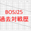 過去の対戦成績で予想するBOSJ25・星取り予想編