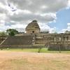 メキシコ チチェン・イッツァ遺跡(3/3) 旧チチェン・イッツァ時代遺跡「天文台」「赤の家」「高僧の墳墓」 と イグアナ君