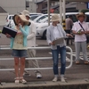 会員の声  味岡・西友前で「楽しい」署名宣伝行動