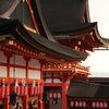 伏見稲荷大社 本宮祭(夕焼けの中)