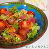 ●エミリオちゃんのお刺身サラダと私風「俺のそば」