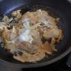 幸運な病のレシピ( 1310 )夜:鶏唐揚の卵とじ、豚バラ軟骨(パイコ)の二度揚げ、汁、後にラムチョップ(魚焼き器)