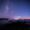 【天体撮影記 第143夜】 長崎県 島原半島の突端へ、瀬詰崎灯台の夕焼けと天の川